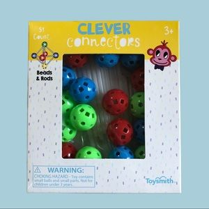 Clever Connectors Beads & Rods 51 Count Ages 3+